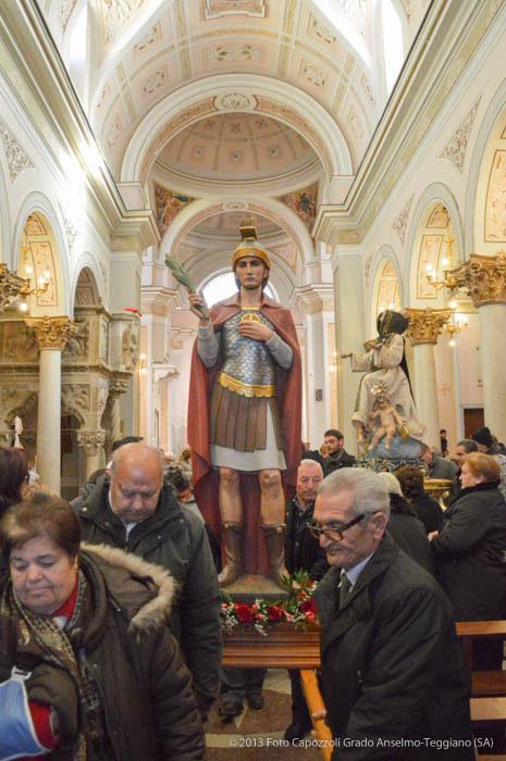 Statua di San Laverio in uscita