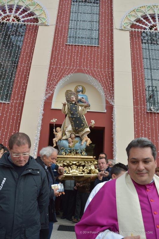 San Cono davanti la chiesa di San Marco