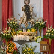 statua-di-san-cono-circondata-da-fiori