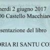 """Presentazione del libro """"LA STORIA RI SANTU CONU"""""""