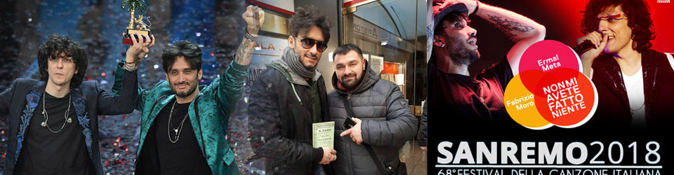 Fabrizio Moro da sempre devoto a San Cono, vincitore del festival di Sanremo insieme a Ermal Meta